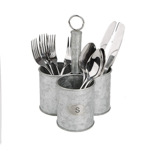 Featured mind reader 3sgcadut sil 3 cup utensils caddy cutlery serve ware holder flatware silverware organizer forks spoons knives kitchen silver one size metal
