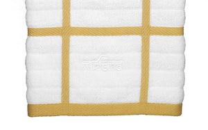 Get all clad textiles 100 percent combed terry loop cotton kitchen towel oversized highly absorbent and anti microbial 17 inch by 30 inch checked dijon yellow
