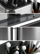 Load image into Gallery viewer, Budget friendly elfrhino utensils holder stainless steel kitchen tools knives holder knives block utensils container utensils crock flatware caddy cookware cutlery utensils holder multipurpose kitchen storage crock