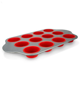 Shop here silicone baking molds pans and utensils set of 13 by boxiki kitchen silicone cake pan brownie pan loaf pan muffin mold 2 spatulas brush and 6 measuring spoons