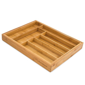 Online shopping bamboo expandable drawer organizer premium cutlery and utensil tray 100 pure bamboo adjustable kitchen drawer divider 7 compartments expandable