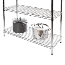 Load image into Gallery viewer, Heavy duty seville classics bakers rack for kitchens solid wood top 14 x 36 x 63 h