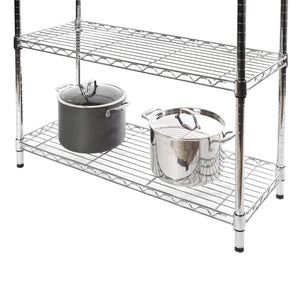 Heavy duty seville classics bakers rack for kitchens solid wood top 14 x 36 x 63 h