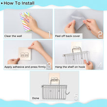 Load image into Gallery viewer, Discover the faayfian wall mounted 3 in 1 kitchen sponge holder stainless steel bathroom shelf storage organizer soap scrubbers holder dish cloth hanger bathroom shower caddy kitchen sink caddy