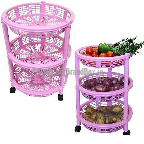Multipurpose 3 Rack Kitchen Trolly