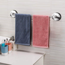Load image into Gallery viewer, Latest jomola 17 inch vacuum suction cup shower towel bar for bathroom drill free kitchen hand towel rack holder storage hanger stainless steel brushed finish