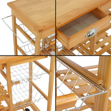 Load image into Gallery viewer, Shop here nova microdermabrasion rolling wood kitchen island storage trolley utility cart rack w storage drawers baskets dining stand w wheels countertop wood