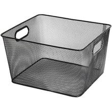 Load image into Gallery viewer, Kitchen ybm home household wire mesh open bin shelf storage basket organizer black for kitchen pantry cabinet fruits vegetables pantry items toys 1041s 12 12 10 x 9 x 6