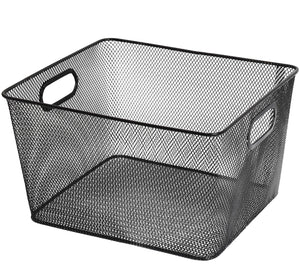 Kitchen ybm home household wire mesh open bin shelf storage basket organizer black for kitchen pantry cabinet fruits vegetables pantry items toys 1041s 12 12 10 x 9 x 6