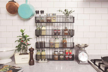 Load image into Gallery viewer, Heavy duty jackcubedesign wall mount spice rack 4 tier kitchen countertop worktop display organizer spice bottles holder stand shelves17 6 x 2 8 x 20 8 inches mk418a