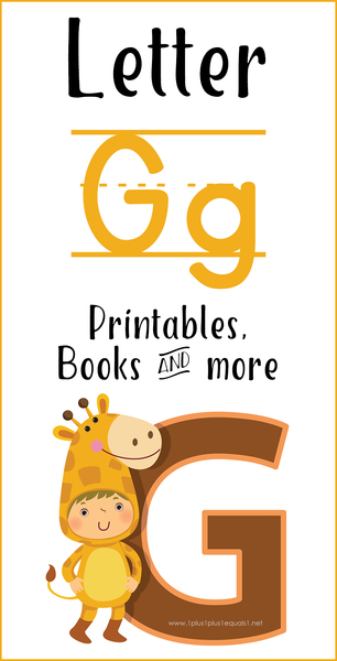 Letter G Printables, Books, and More