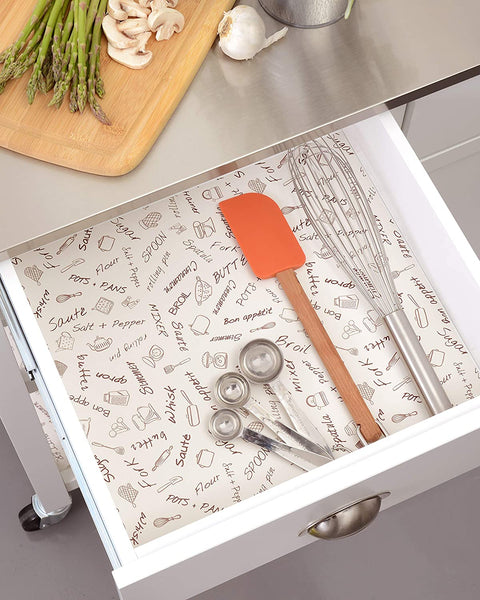 Con-Tact Brand Covering Adhesive Creative Drawer and Shelf Liner, 18″ x 9′, Bon Appetit $2.99