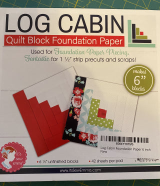 Log Cabin Paper Piecing with Honey Buns