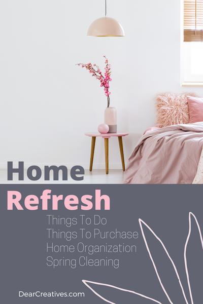It's amazing what a little, home refresh and a mini home makeover can do to lift your spirits! First, start by, decluttering, cleaning, and organizing… Today we are sharing new finds we spotted for the home