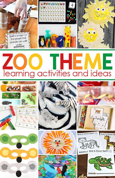 Zoo Theme Crafts and Activities for Kids