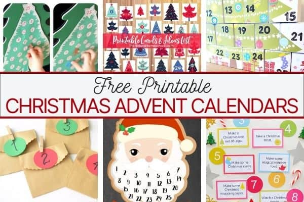 20+ Free Printable Advent Calendars for Christmas Countdown Fun