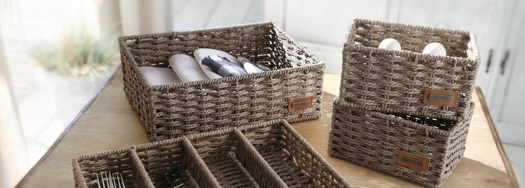 Cutlery Tray, Cutlery Basket Organizer 1pc, Traditional Wicker Kitchen Organisers, Braided Cutlery Trays, Drawer Dividers, Cutlery,
