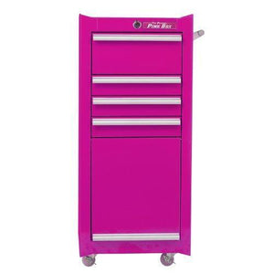 Heavy duty the original pink box pb1804r 16 inch 4 drawer 18g steel rolling tool salon cart with bulk storage pink