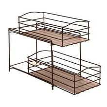 Load image into Gallery viewer, Discover seville classics 2 tier sliding basket drawer kitchen counter and cabinet organizer bronze