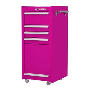 Home the original pink box pb1804r 16 inch 4 drawer 18g steel rolling tool salon cart with bulk storage pink