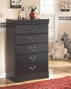 Related ashley furniture signature design huey vineyard chest of drawers 5 drawers vintage casual louis philippe styling black