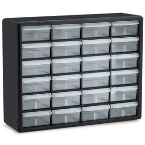 "AKRO-MILS Parts Storage Cabinet - 20x6.38x15.81"" - (24) 4-3/8 x5-1/4 x2"" Drawers"