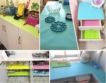 Load image into Gallery viewer, Related hitytech shelf liner eva shelf liners can be cut refrigerator mats fridge cushion liner non adhesive cupboard liners non slip cabinet drawer table liners 59 x 17 3 4 in blue