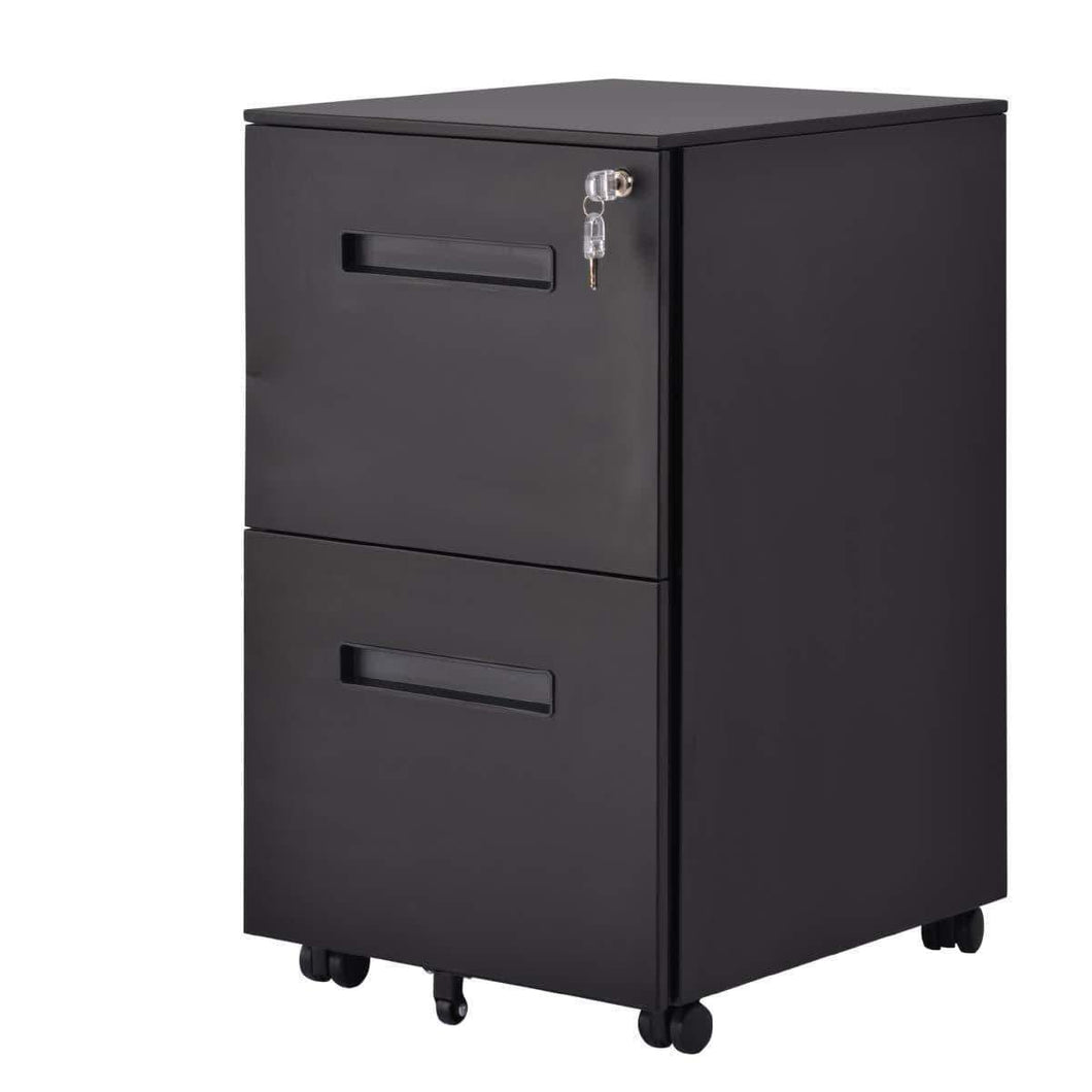 Save file cabinet mobile 2 drawer metal pedestal filing cabinets with lock key 5 rolling casters fully assembled home office modern vertical hanging folders a4 letter legal size