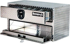 Buyers Products Diamond Tread Aluminum Underbody Truck Box w/ Drawer (20x18x48 Inch)