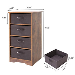 Discover the iwell wooden dresser storage tower with removable 4 drawer chest storage organizer dresser for small rooms living room bedroom closet hallway rustic brown sng004f