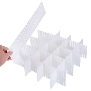Top rated 24 pcs plastic diy grid drawer divider household necessities storage thickening housing spacer sub grid finishing shelves for home tidy closet stationary socks underwear scarves organizer white