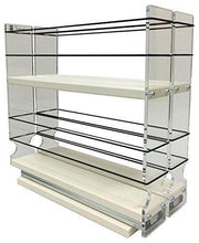 Load image into Gallery viewer, Discover the vertical spice 22x2x11 dc spice rack narrow space w 2 drawers each with 2 shelves 20 spice capacity easy to install
