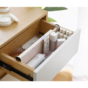 Organize with kingrol 4 pack adjustable drawer organizer dividers with foam ends for kitchen dresser bedroom bathroom office storage