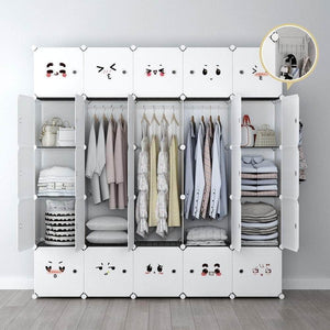Save yozo modular closet portable wardrobe dreeser organizer clothes storage organizer chest of drawers cube shelving for teens kids diy furniture white 8 cubes