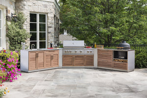 Outdoor Kitchen Stainless Steel 4 Piece Cabinet Set