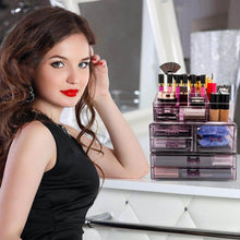 Load image into Gallery viewer, The best sorbus cosmetics makeup and jewelry storage case display sets interlocking drawers to create your own specially designed makeup counter stackable and interchangeable purple