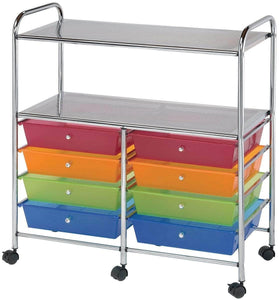 Related blue hills studio sc8mcdw 12 s storage cart 8 drawer wide with 2 shelf multi colored