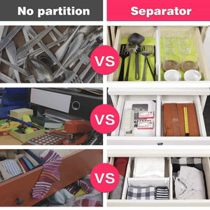 Kitchen favonian drawer dividers clothes divider multifunction dresser organizer spice organizers adjustable expandable rack for kitchen desk cabinet storage wardrobe clothing arrange 3 pcs pack