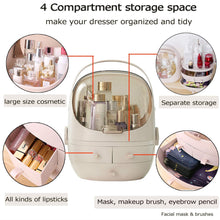 Load image into Gallery viewer, Purchase fazhen cosmetic and jewelry storage with dustproof lid large makeup organizer display boxes with drawers for vanity skin care products rack dressing table desktop finishing box pink
