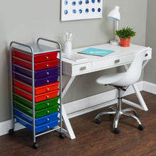 Load image into Gallery viewer, Great advantus 10 drawer rolling organizer 37 6 x 13 x 15 4 inches multi colored avt34004