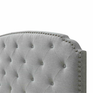 Select nice dg casa 12350 k plt argo tufted upholstered panel bed frame with storage drawers and nailhead trim headboard king size in platinum linen style fabric