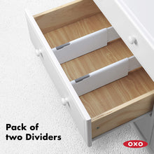 Load image into Gallery viewer, Order now oxo good grips expandable dresser drawer divider 2 pack
