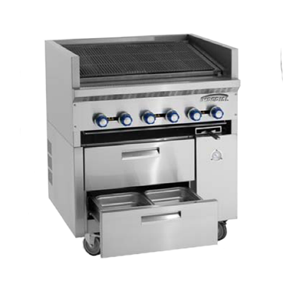 Imperial IR-36ABR-SC Restaurant Series Sizzle 'N Chill Range, gas, 36
