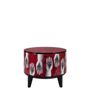 Fornasetti Tamburo table Don Giovanni colour - with drawer divider