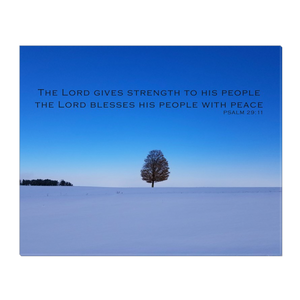 Peace Tree Wrapped Canvas