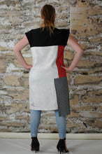 Load image into Gallery viewer, #MultiStyleDress  red + black + white + stripes