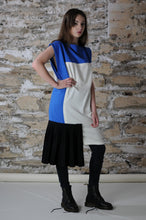 Load image into Gallery viewer, #MultiStyleDress blue + white + black + pleats