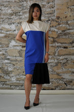 Load image into Gallery viewer, #MultiStyleDress blue + light blue + black + pleats