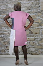 Load image into Gallery viewer, #MultiStyleDress pink + gray + cream