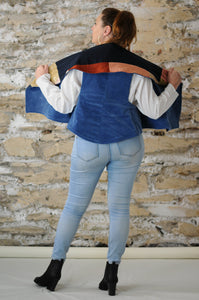 #MultiFaceJacket   blue + corduroy + beige + red + pink + plush